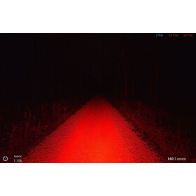 Lupine Rotlicht Veiligheidslamp, red